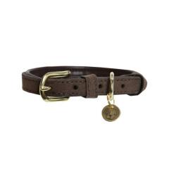 Kentucky dog collar velvet leather
